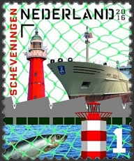 Scheveningen Lighthouse, Scheveningen North Mole Light (foreground of stamp) | Scott ?, Mi ?, SG ?, WADP ? | 23 May 2016