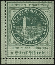 Stylized L/H | Sc not listed, Mi 3, SG ?, Yt ? | 1916 | image courtesy of www.GermanStamps.net