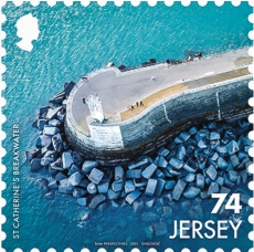 St. Catherine' Breakwater L/H | 1 Apr 2021 | Image courtesy of Jersey Post, www.jerseystamps.com