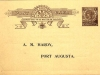 Australia early postal card