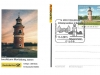 German postal card showing Moritzburg Lightouse and postmark