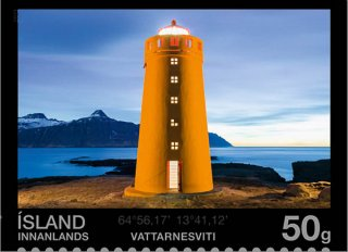 Vattarnes Lighthouse, Scott 1316, 12 Sep 2013