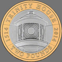 Trinity House 2 pound coin, 2014