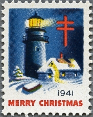 United States Christmas seal 1941