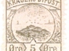 Kragero, Norway local post 5 ore 1886