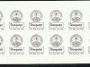 New Zealand Coast Community local post sheet of self adhesive stickers 1988