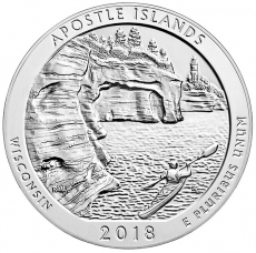 United States 5oz. silver coin, 2018