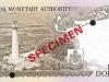 Bermuda 50 dollar banknote