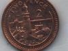 Gibraltar 2 pence coin