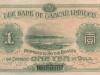 Taiwan 1 gold yen banknote