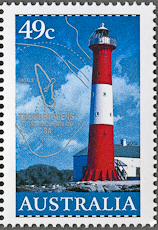 Troubridge Island Lighthouse, Scott 2048, 12 Mar 2002