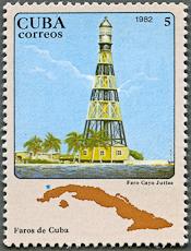 Cayo Jutías Lighthouse, Scott 2553, 25 Oct 1982