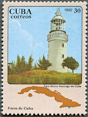 Morro Santiago de Cuba Lighthouse, Scott 2555, 25 Oct 1982