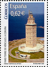 Torre del Hercules Lighthouse, Scott 3637e, 15 Apr 2009