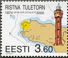 Ristna Lighthouse, Scott 388, 25 Feb 2000