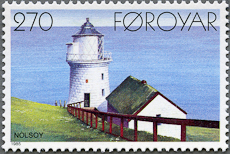 Nolsoy Lighthouse, Scott 130, 23 Sep 1985