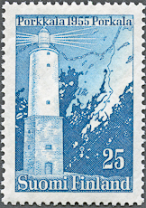 Porkkala LIghthouse, Scott 335, 26 jan 1956