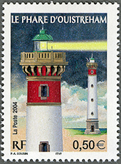 Ouistreham Lighthouse, Scott 3050, 30 Oct 2004
