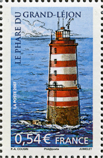 Grand-Lejon Lighthouse, Scott 3371d, 9 Nov 2007