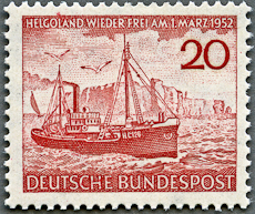 Helgoland Lighthouse, Scott 690, 7 Sep 1952