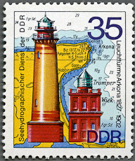 Arkona Lighthouse, Scott 1556, 7 May 1974