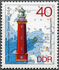 Greifswalder Oie Lighthouse, Scott 1557, 7 May 1974