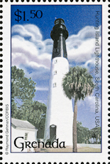 Hunting Island Lighthouse, Scott 3173c, 27 Aug 2001