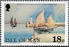 Port St. Mary Lighthouse, Scott 186, 24 Feb 1981