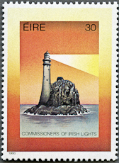Fastnet Rock Lighthouse, Scott 668, 10 Jul 1986