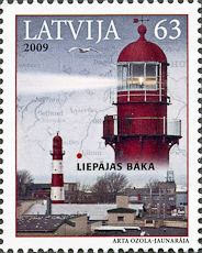 Liepaja Lighthouse, Scott 746, 5 Nov 2009