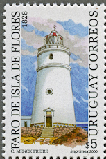 Isla de Flores Lighthouse, Scott 1858a, 14 Mar 2000
