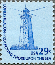 Sandy Hook Lighthouse, Scott 1605, 14 Apr 1978