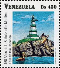 Isla Redonda Lighthouse, Scott 1626f, 16 Apr 2002