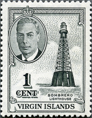 Sombrero Lighthouse, Scott 102, 15 Apr 1952