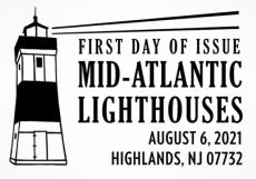 Erie Harbor L/H   6 Aug 2021   Black and white pictorial postmark